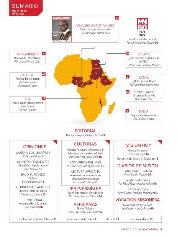 Indice Mundo Negro Marzo 2020
