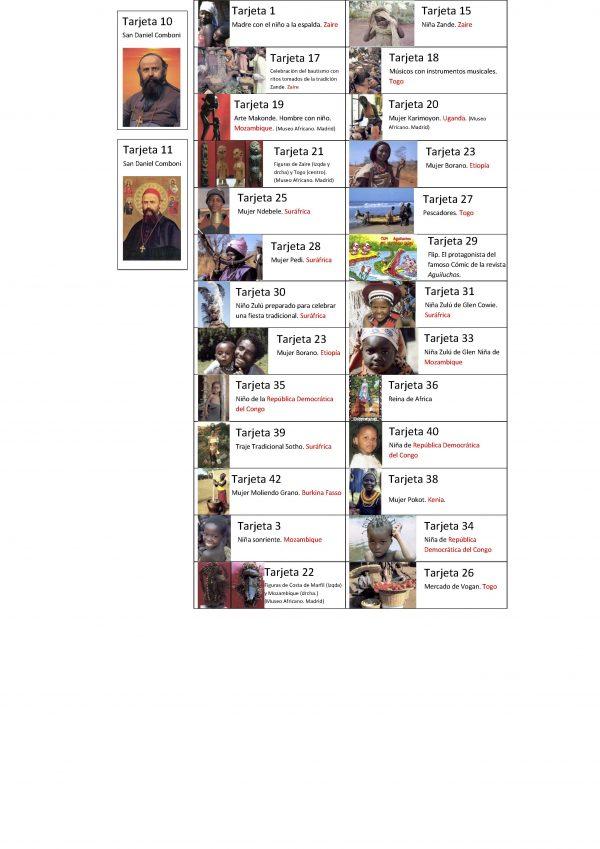 Tarjetas postales africanas