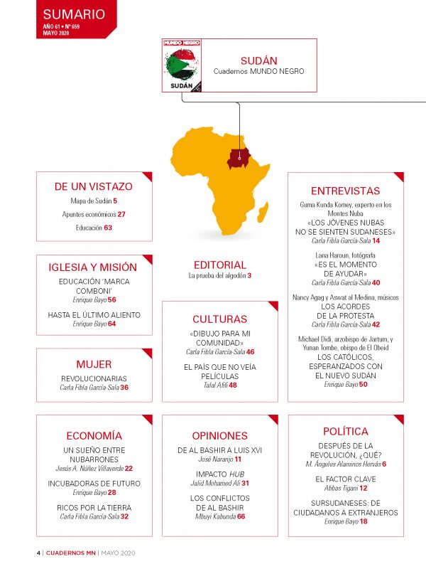 Mundo Negro Mayo. Cuaderno Sudán